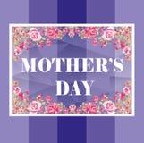 Mother`s day card, Pruple color, Flower vector illustration