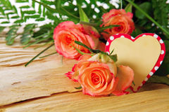 Mother's Day card and roses. Royalty Free Stock Image