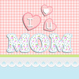 Mother's Day card, with shabby chic colors Stock Image