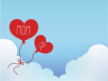 Mother's Day Card. Vector File EPS10 Stock Images