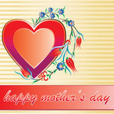 Mother's day. Celebrating Mother's Day greeting card vector illustration