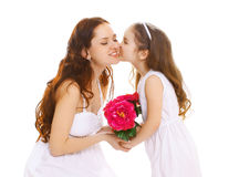 Mother's day, celebration, birthday and family concept Royalty Free Stock Image
