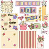 Mother's Day Clipart Royalty Free Stock Photo
