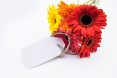 Mother's Day Concept - Post card with colorful flowers. Stock Images