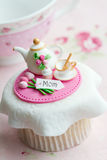 Mother's day cupcake. Cupcake gift for Mother's day Royalty Free Stock Photos
