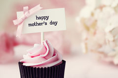 Mother's day cupcake. Cup cake for Mother's day Stock Photography