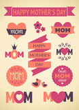 Mother's Day Design Elements Stock Images