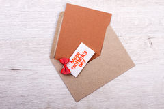 Mother`s Day enveloped greting card. Royalty Free Stock Photos