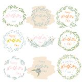 Mother`s Day Floral Frame Design royalty free illustration
