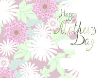 Mother's Day floral greeting. EPS10 vector illustration. Stock Images