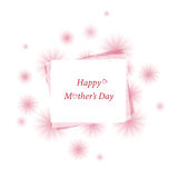 Mother's day, floral message card Royalty Free Stock Photos