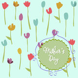 Mother's Day, floral pattern with tulips Stock Images