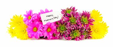 Mother's Day flower border Stock Images
