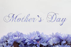 Mother`s day - flowers and text Stock Images