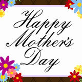 Mother's Day Flowery Border Royalty Free Stock Images