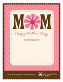 Mother's Day Flyer/Poster Template. 8.5x11 Happy Mother's Day Flyer/Poster Template Royalty Free Stock Image