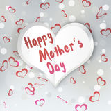 Mother`s Day Folded Paper Heart Royalty Free Stock Image