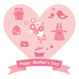 Mother's day gifts icon with heart Royalty Free Stock Photos