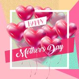Mother`s Day greeting blossom floral decoration card Stock Images