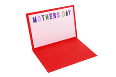 Mother's day greeting card Stock Image