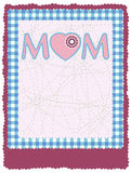 Mother's day greeting card. Royalty Free Stock Photography