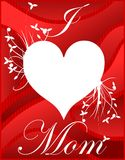 Mothers day greeting card in red tones stock photo