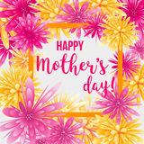 Mother`s day greeting card. Stock Images