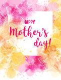 Mother`s day greeting card. Stock Photography