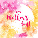 Mother`s day greeting card. Royalty Free Stock Image
