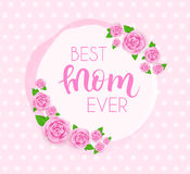 Mother`s day greeting card. Royalty Free Stock Images