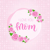 Mother`s day greeting card. royalty free illustration
