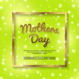Mother`s day greeting card background. Vector illustration stock photos