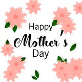 Mother`s day greeting card with beautiful flowers. Mother`s day greeting card with beautiful blossom flowers Royalty Free Stock Photos