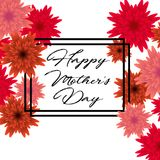 Mother`s day greeting card with beautiful flowers. Mother`s day greeting card with beautiful blossom flowers Stock Photo