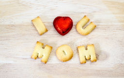Mother`s day Greeting card concept. I love you mom. Text from th Royalty Free Stock Images