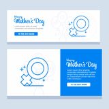 Mother's day greeting card with flowers background Royalty Free Stock Images