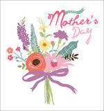 Mother's day greeting card Stock Images