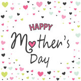 Mother`s day greeting card Stock Photos
