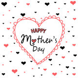 Mother`s day greeting card Royalty Free Stock Photos