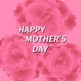 Mother s day greeting card with carnation flowers. Royalty Free Stock Photo