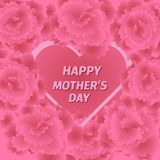 Mother s day greeting card with carnation flowers. Stock Photography