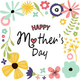 Mother`s day greeting card Stock Photo