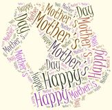 Mother's day greeting card. Word cloud illustration. Royalty Free Stock Photo