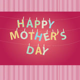 Mother's day greeting- hanging letters Stock Photo