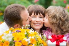 Mother's day greeting stock photo