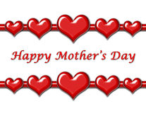 Mother's Day Greeting with Hearts. Mother's Day Greeting with red hearts vector illustration