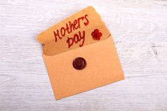 Mother`s Day greeting letter. Royalty Free Stock Image