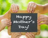 Mother's day greeting Royalty Free Stock Photography