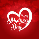 Happy mothers day greeting card vector illustration royalty free illustration