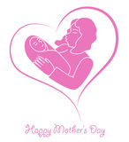Mother's Day Heart Royalty Free Stock Image